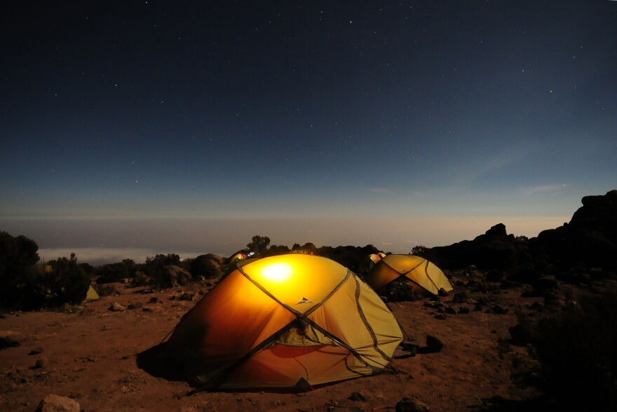 Headlamps make cold nights cozier, but leave the fuel-burning lanterns and stoves outside.