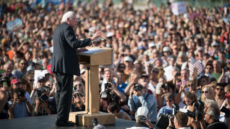 Sen. Bernie Sanders drew a large crowd when he launched his campaign last month in Burlington, Vt., and the crowds have continued.