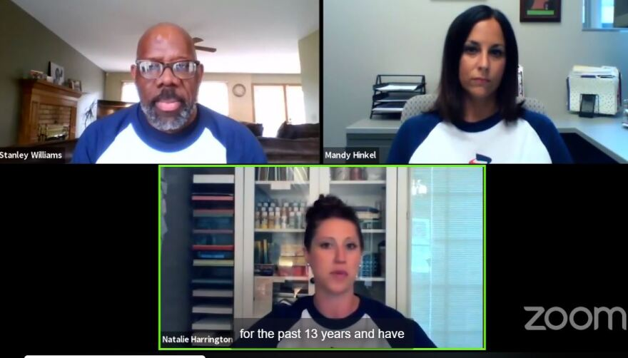 A photo of the Career Services Facebook live.