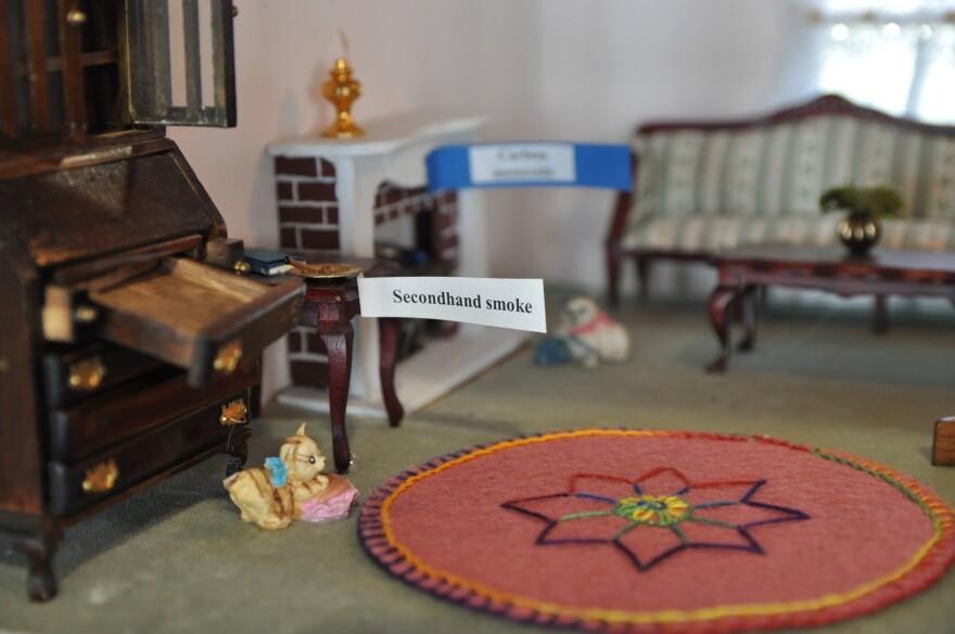 A doll house kept by St. Louis County demonstrates potential hazards in the home.
