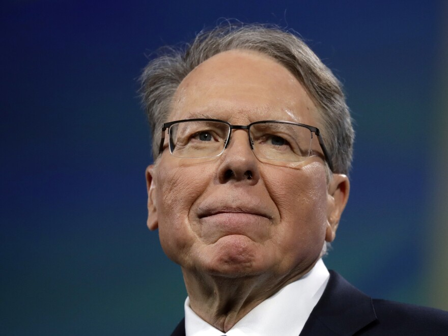 National Rife Association CEO Wayne LaPierre told members of the group's board on Monday that the coronavirus has forced layoffs and other cost-cutting measures.
