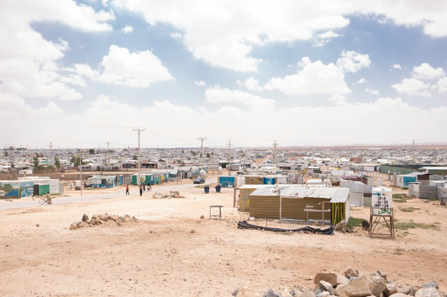 The Zaatari refugee camp, located in Jordan, is home to some 80,000 Syrians who fled their country because of the conflict.