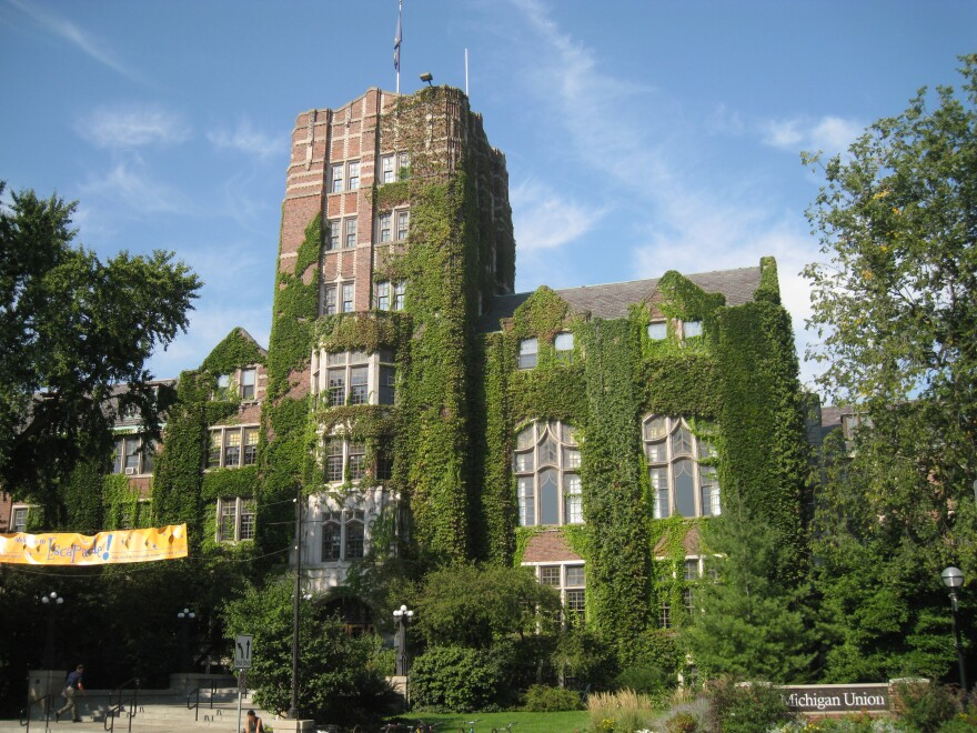 moss-covered building on University of Michigan campus