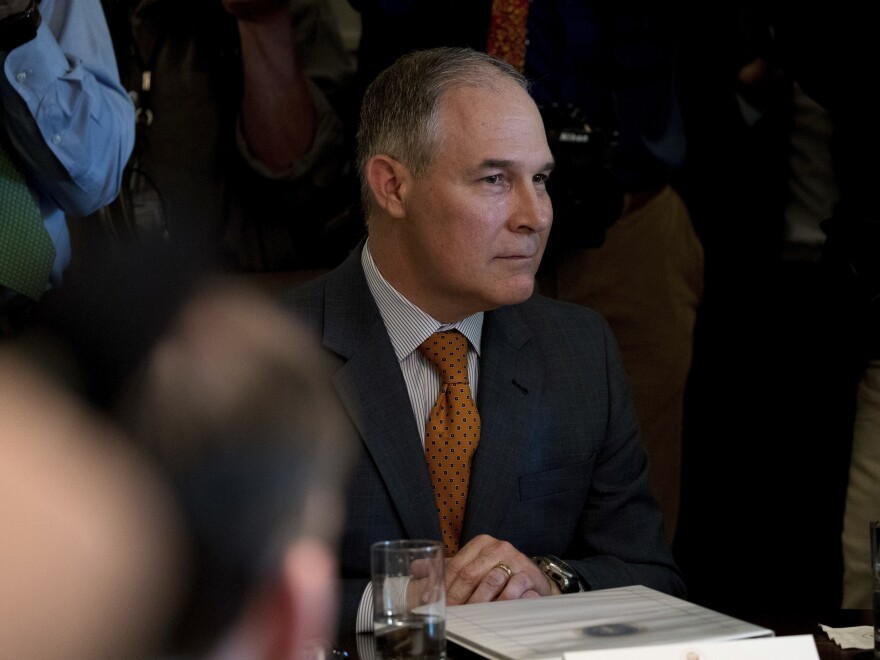 Environmental Protection Agency Administrator Scott Pruitt attends a Cabinet meeting with President Trump in June.