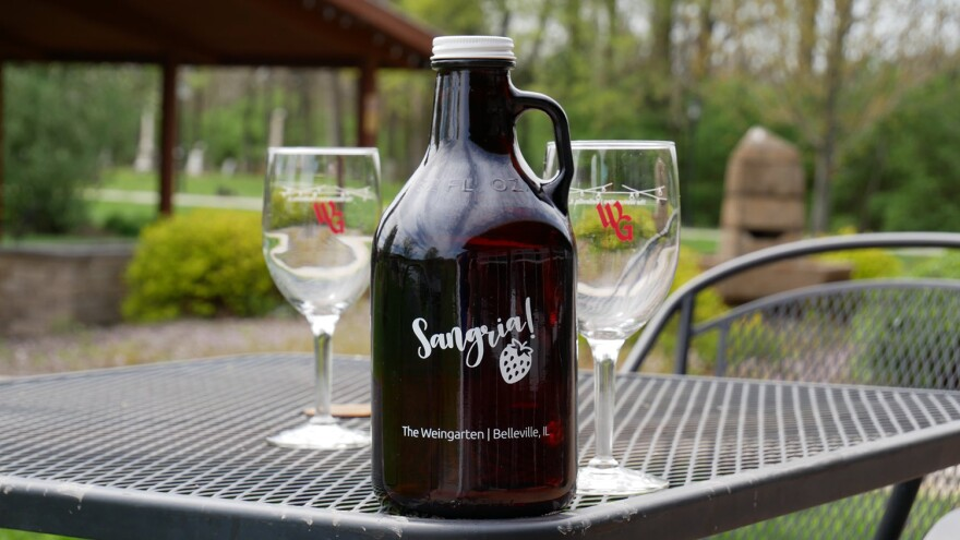 The Weingarten in Belleville started offering take-home growlers of its sangria. The restaurant and event venue was forced to temporarily close because of the pandemic. PROVIDED 04-29-2020