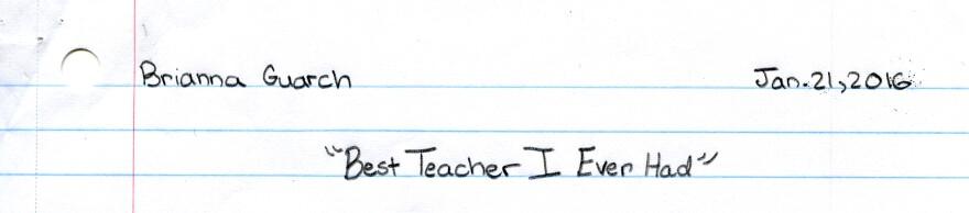 Brianna's essay.