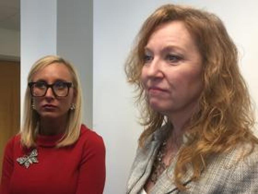 Senator Lauren Book (D - Plantation) and Representative Kristin Jacobs (D - Coconut Creek).
