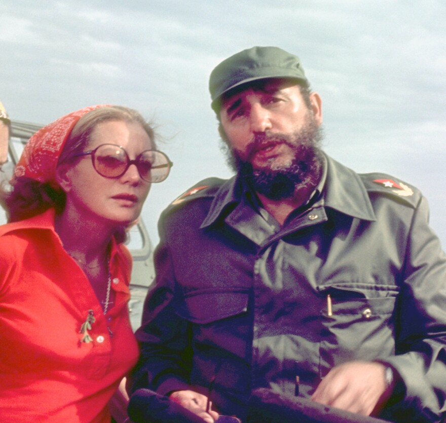 Barbara Walters interviewed Cuban president Fidel Castro as they crossed the Bay of Pigs on an ABC News Special in 1977.
