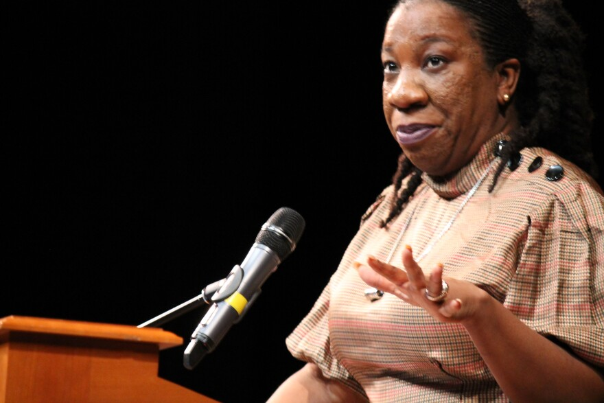 #MeToo founder Tarana Burke talks about the evolution of the movement that aims to help sexual harassment survivors.  She spoke at Webster University on Feb. 19. 2018.