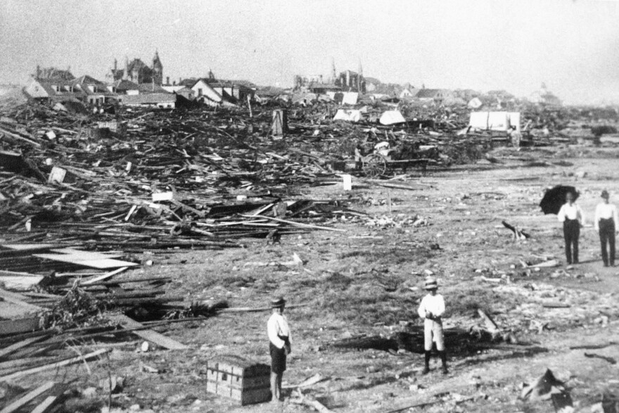 More than 6,000 people were killed and 10,000 left homeless from the Great Galveston Storm.