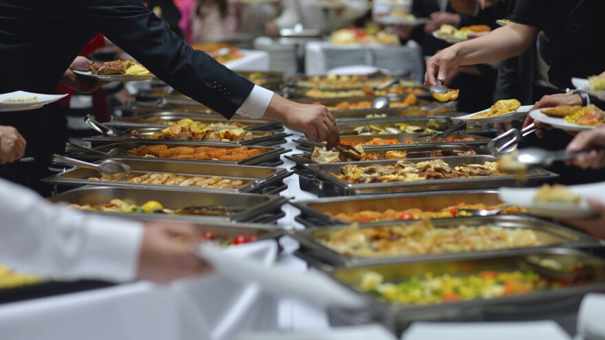 In one study, people who were in a buffet line served themselves a lot more of an unhealthful pasta dish if they were next to or behind a person perceived to be overweight.
