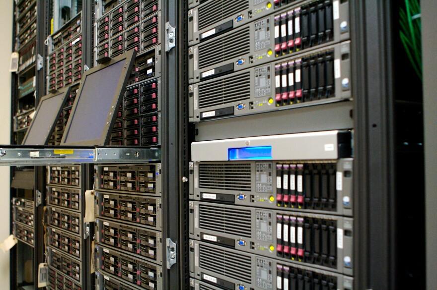 a photo of computer servers