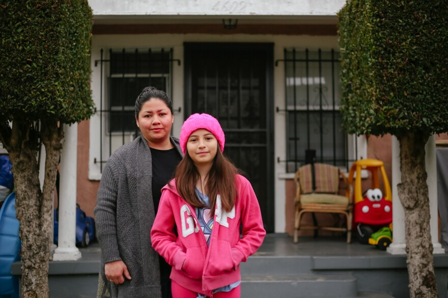 "Rosa Escobar and her daughter Kimberly are preparing to open their house to striking teachers on Monday. ""We went to Costco today, so we have a big pack of toilet paper right there,"" Escobar said."