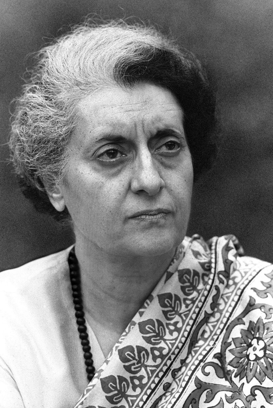 Indira Gandhi served as prime minister of India from 1966 to 1977, and from 1980 until her assassination in 1984.