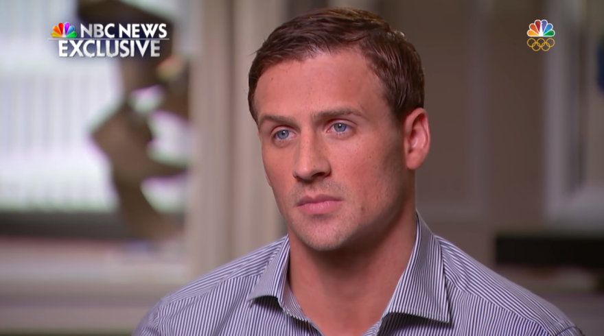 """U.S. Swimmer Ryan Lochte sits down with NBC's <em>Today </em>show host Matt Lauer in an exclusive interview Saturday night to address the """"robbery,"""" at a gas station that Rio police later discredited as a fabricated story."""