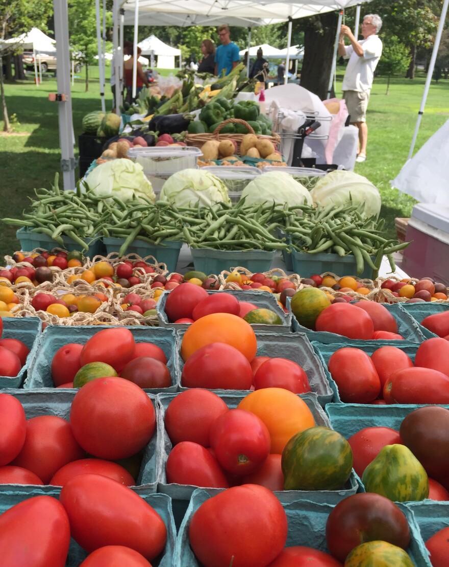A photo of fresh produce