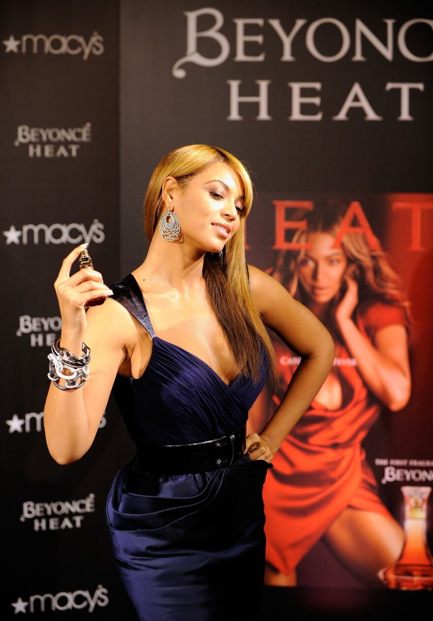 """Grammy winning recording artist Beyonce launches her new """"Heat"""" on Feb. 3, 2010, in New York City."""