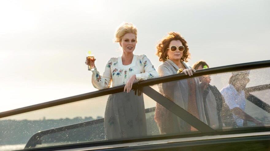 Patsy (Joanna Lumley) and Edina (Jennifer Saunders) in <em>Absolutely Fabulous: The Movie.</em>