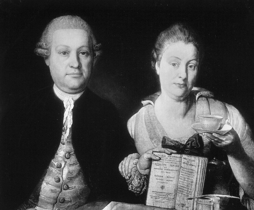 Leopold Auenbrugger (here with his wife, Marianne) is regarded as one of the founders of modern medicine, having applied the idea of detecting disease by sound.