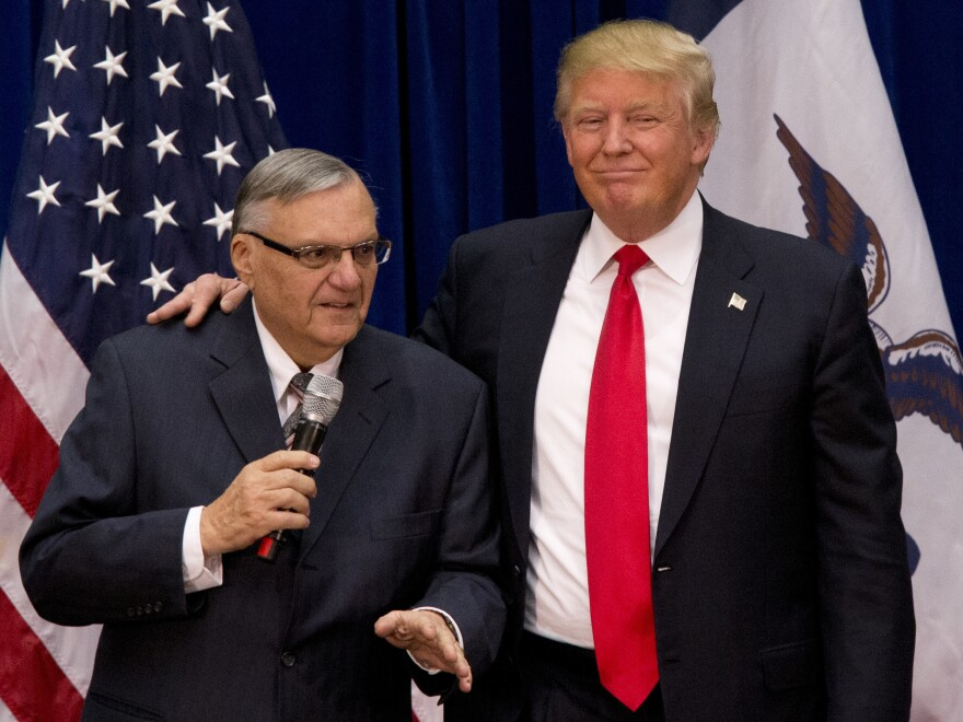 President Trump has said he is considering a pardon for former Maricopa County Sheriff Joe Arpaio, who was recently convicted on federal criminal contempt charges. Trump is holding a rally in Phoenix next Tuesday.