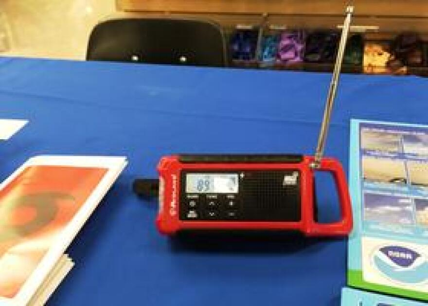 Officials recommend having a weather radio that sends out alerts when bad weather is approaching.