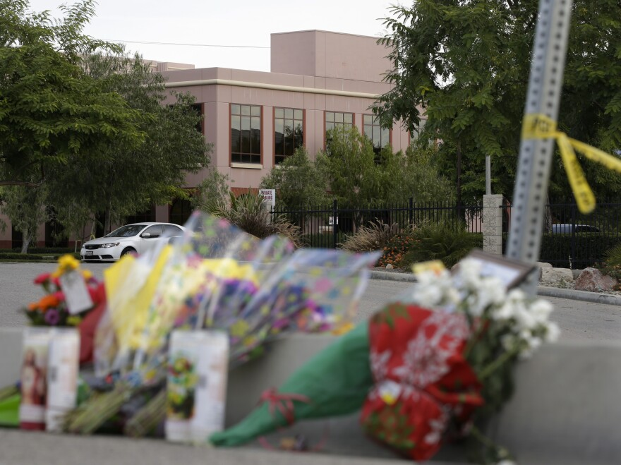 "Counselors will be on site as employees return to work at the Inland Regional Center, the site of a mass shooting last month in San Bernardino, Calif. ""I honestly expect those people that even think they're healed are going to come back and they're going to be jolted right back to that day as we go through those processes of grief and loss,"" said Vince Toms, a manager."