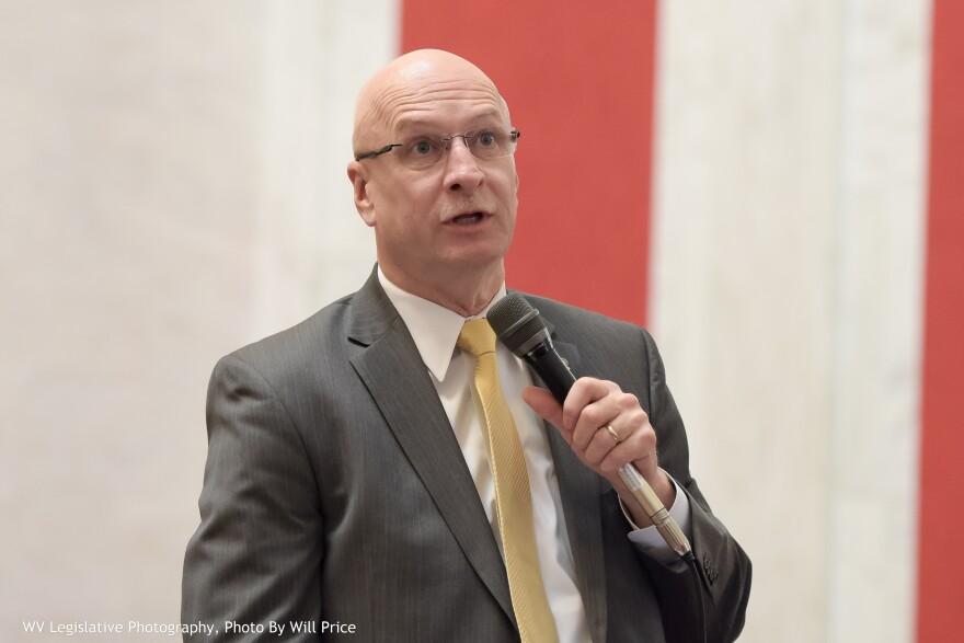 Senate Finance Chairman Craig Blair, R-Berkeley, speaking during a Senate floor session.