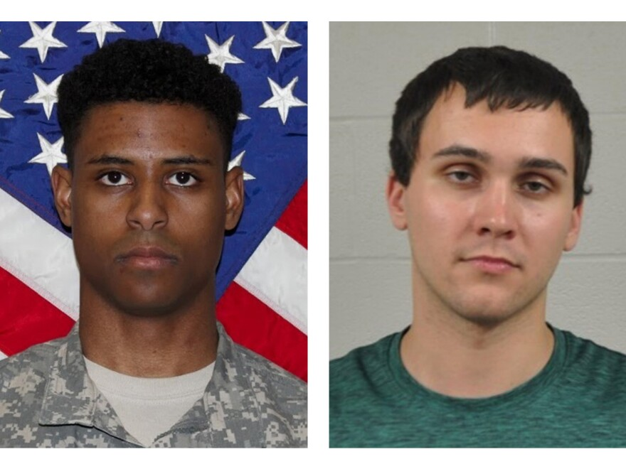 Army 1st Lt. Richard Collins III, left, and Sean Urbanski. Urbanski was sentenced Thursday to life in prison for the murder of Collins in May 2017.