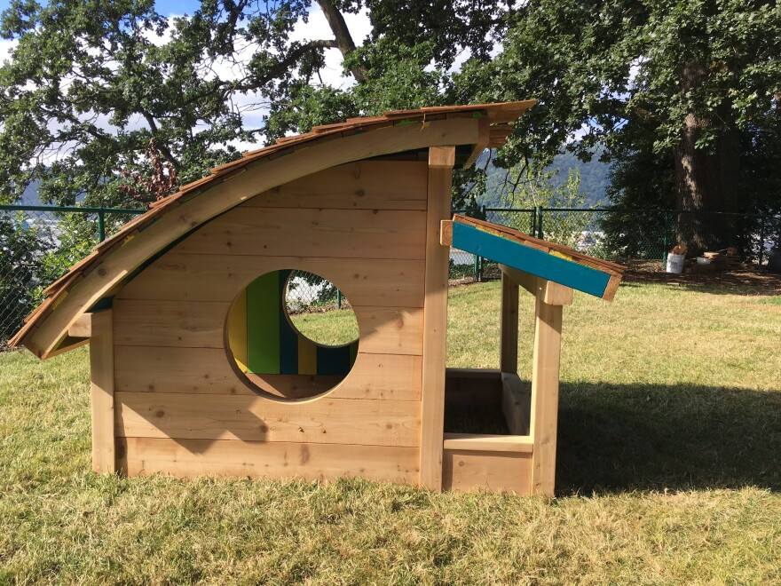 Girls Build summer camps — held in both Portland and Southern Oregon — are awash in construction excitement where girls build structures like this sandbox.