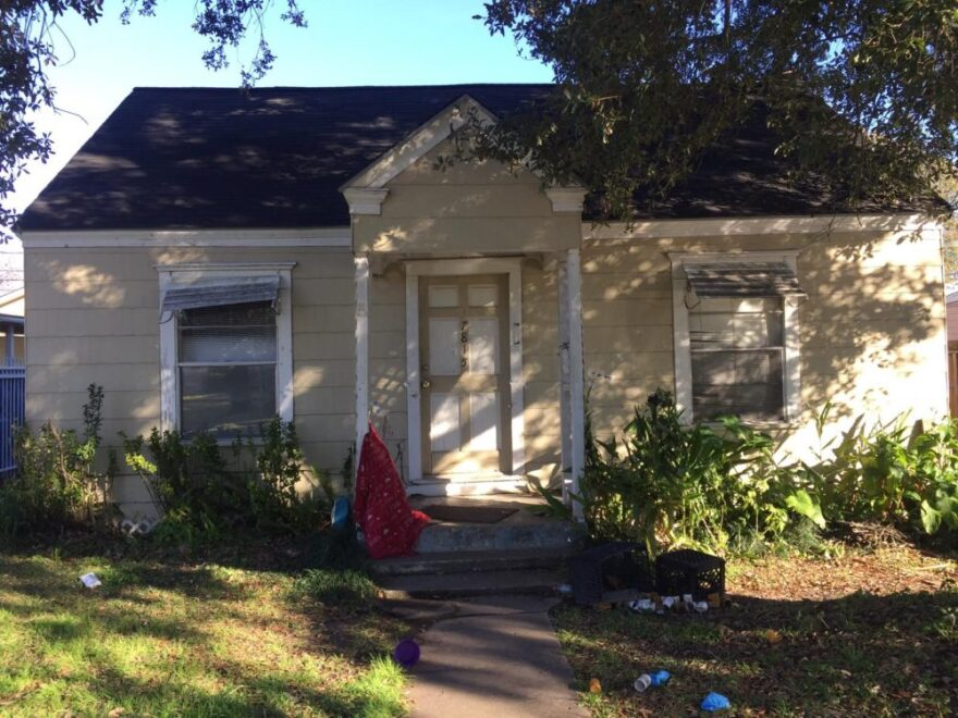The location of a botched drug raid in Houston