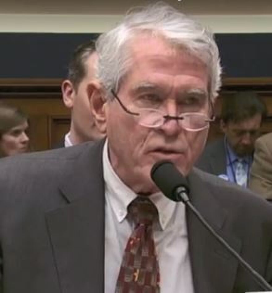 John Holaday speaking at a House hearing on the opioid epidemic March 21, 2018.