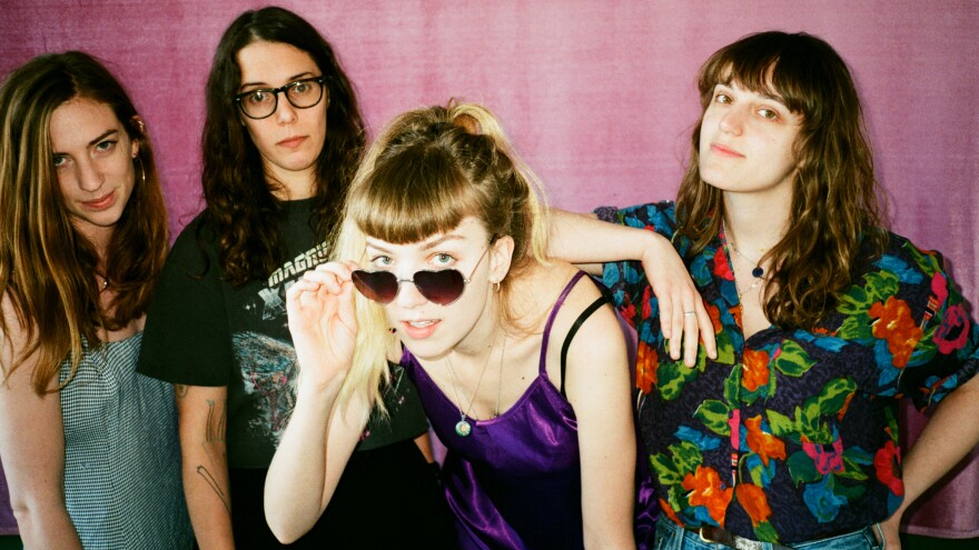 The Big Moon's debut LP, <em>Love in the 4th Dimension</em>, was released in April. Left to right: Celia Archer, Fern Ford, Jules Jackson, Soph Nathan.