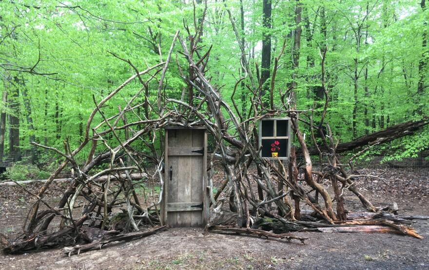 David North built the <em>Doorway to Imagination</em> in his backyard.