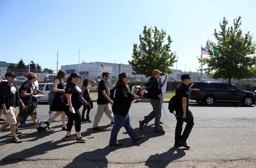 Members of the Puget Sound John Brown Gun Club gather in memory of van Spronsen. After his death, van Spronsen was memorialized, virtually canonized, in some leftist quarters.