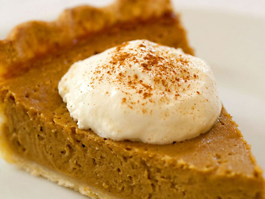 """This might look like pumpkin pie, but it's actually a gluten-free twist on tradition: Stephanie Stiavetti's <a href=""""http://www.npr.org/templates/story/story.php?storyId=120503651#120504135"""">Butternut Squash Pie</a>."""