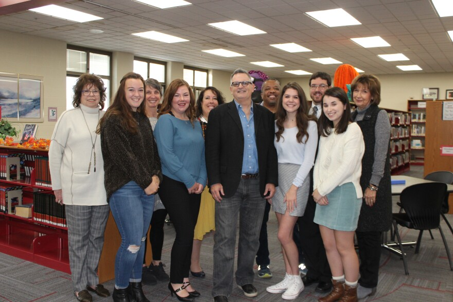 Author Gilbert King visited with students from Tippecanoe High School's Center for Performing Arts