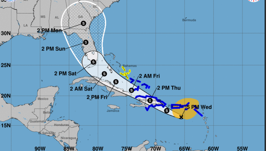 Tropical Storm Isaias is expected to arrive near or over Florida this weekend. The state says it will suspend coronavirus testing as a precaution.