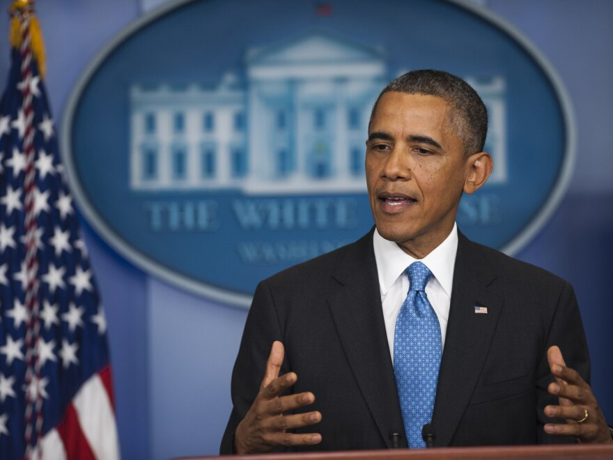 President Obama during his appearance at the White House on Friday.