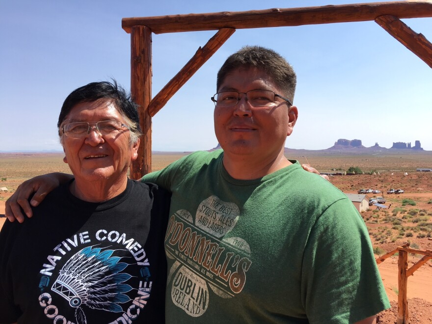 Tommy Rock's uncle, Gary Holiday (left), says he was treated like an outcast after he left the reservation to get his bachelor's and master's degrees in Salt Lake City.