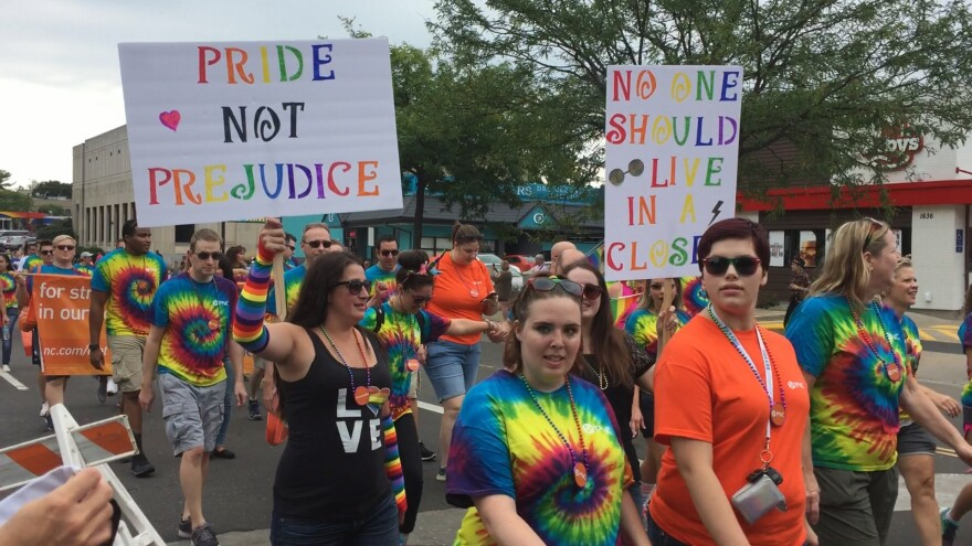 photo of Akron Pride march