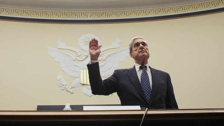 Former Special Counsel Robert Mueller is sworn in before testifying on July 24, 2019 before a House Judiciary Committee hearing about his report on Russian interference in the 2016 presidential election.