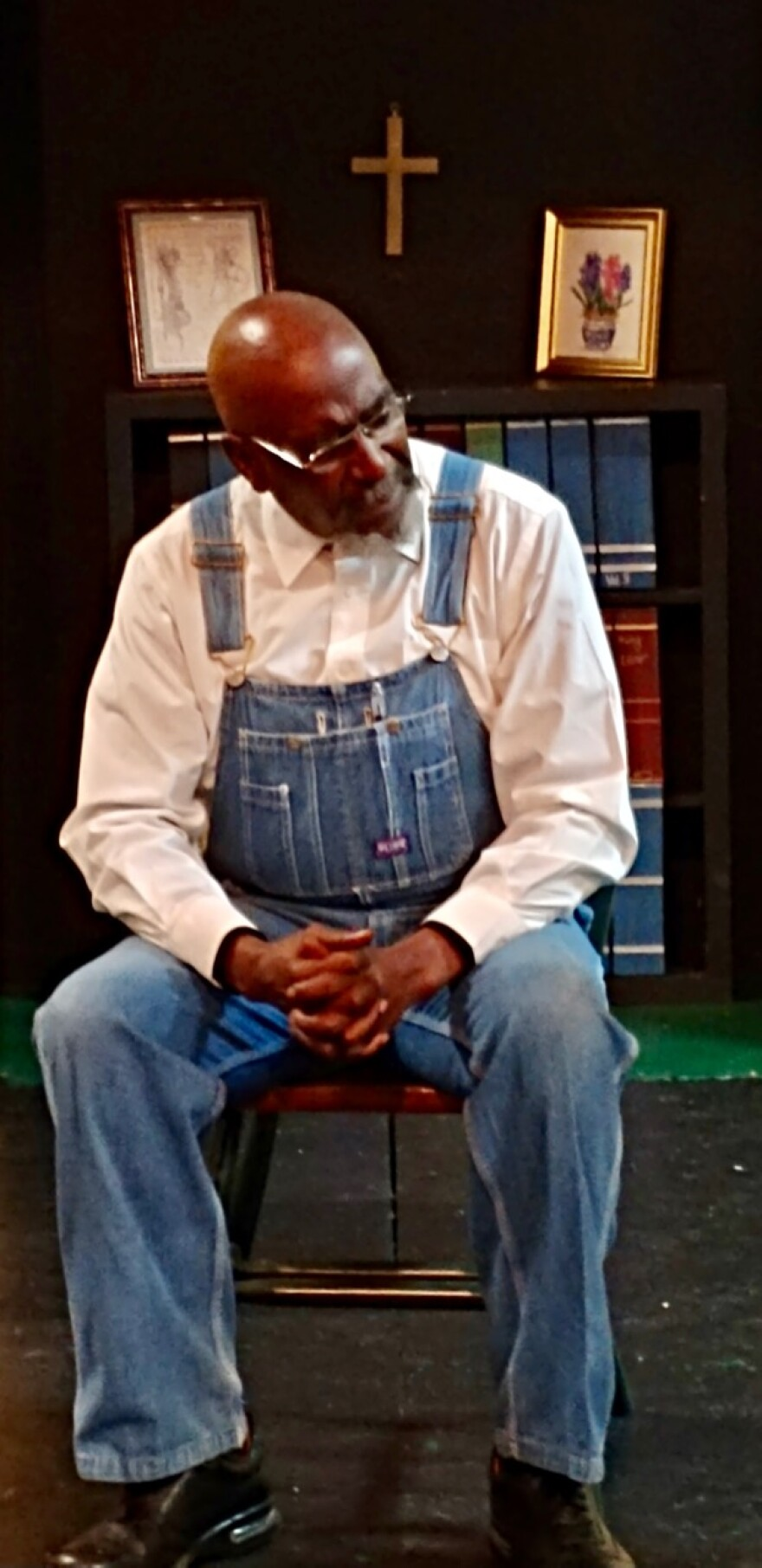 Ronnie Copeland plays Mose Wright, Mamie Till's uncle