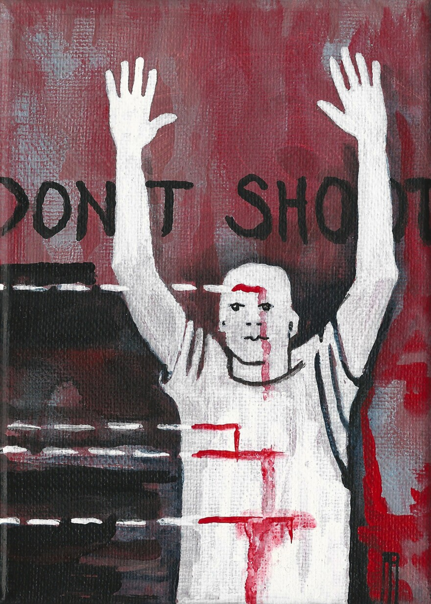 Artwork by Anna Asche for the Hands Up, Don't Shoot exhibit