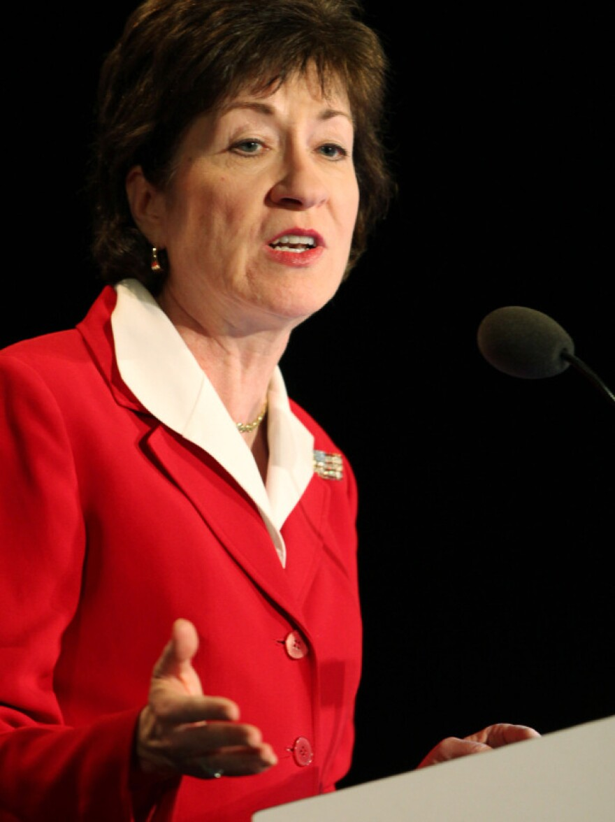 <p>Sen. Susan Collins, R-Maine, is a strong supporter of spuds in schools</p>