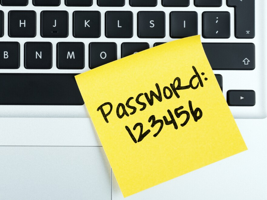 That's the worst password, according to SplashData. It's probably also a bad idea to leave it on your keyboard.
