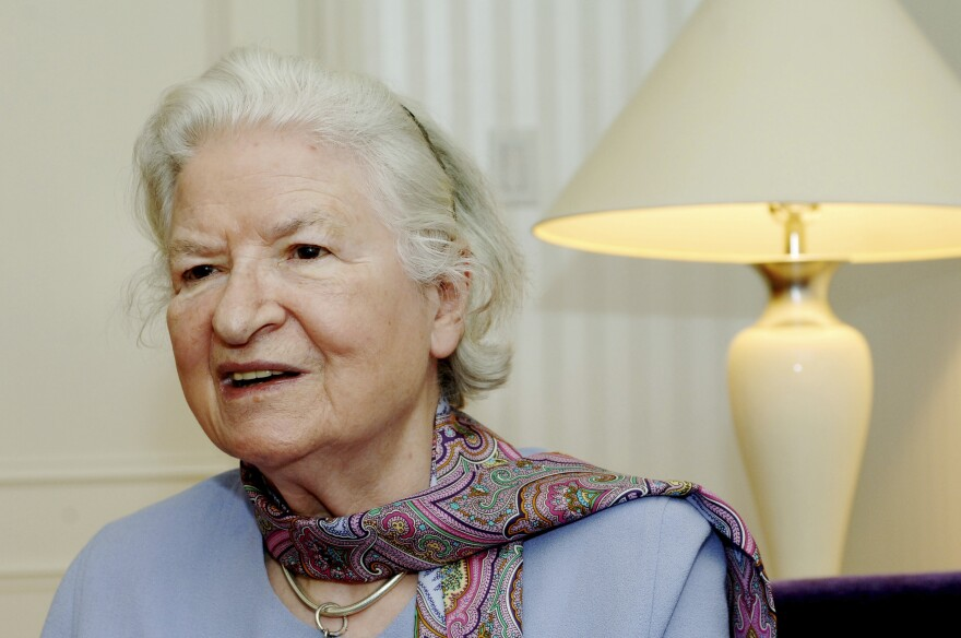 British mystery writer P.D. James wrote 18 novels, seven of which were adapted for the public television series <em>Mystery</em>. She died Thursday at the age of 94.