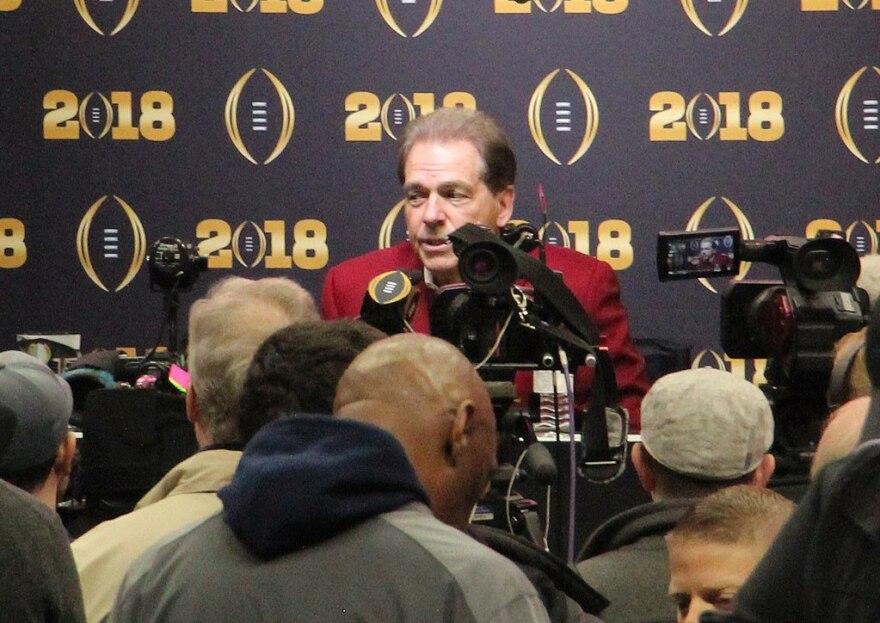 University of Alabama's Head Coach Nick Saban.