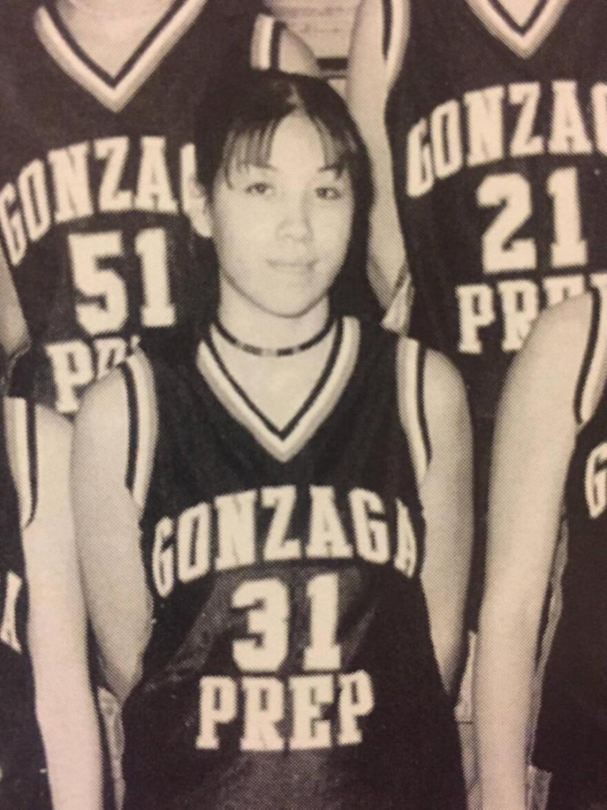 Paulette Jordan during high school in Spokane, WA.