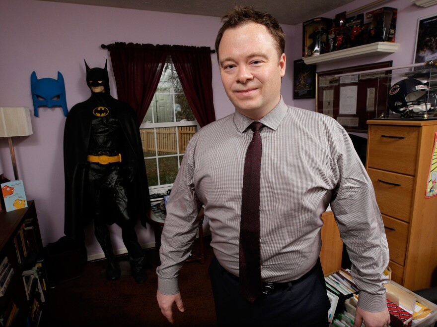 Neal Eggeson works out of a tiny office in his suburban Indianapolis home.