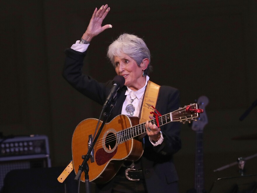 """Joan Baez performs """"Rexroth's Daughter"""" during this hour-long Mountain Stage holiday special."""
